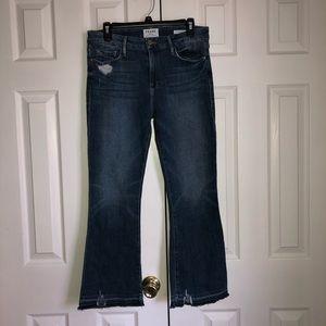 Frame Denim Le Crop Mini Bootcut Blue Jeans